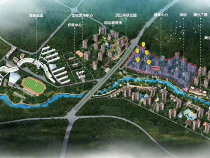 小区规划图实景图
